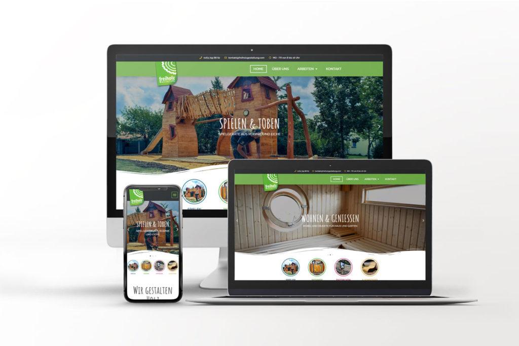 Webseite Freiholzgestaltung