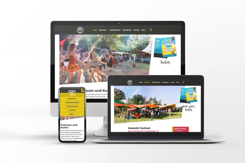 Webseite Freiraum Kultur
