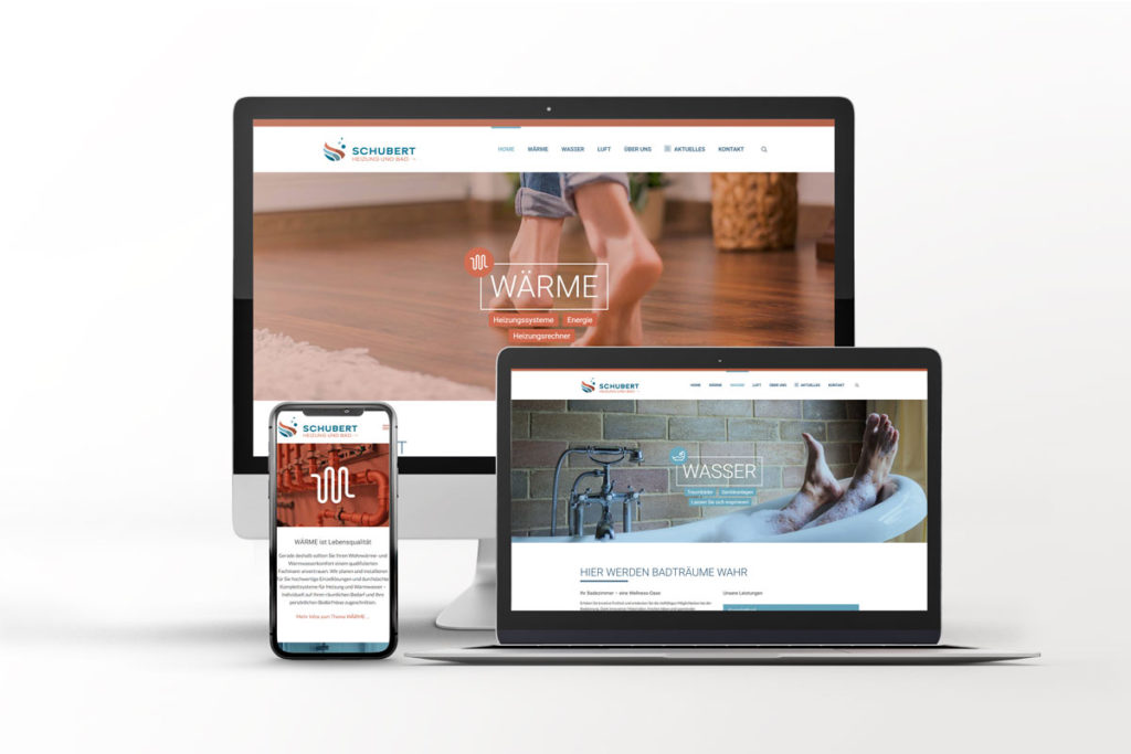 Webseite für Schubert