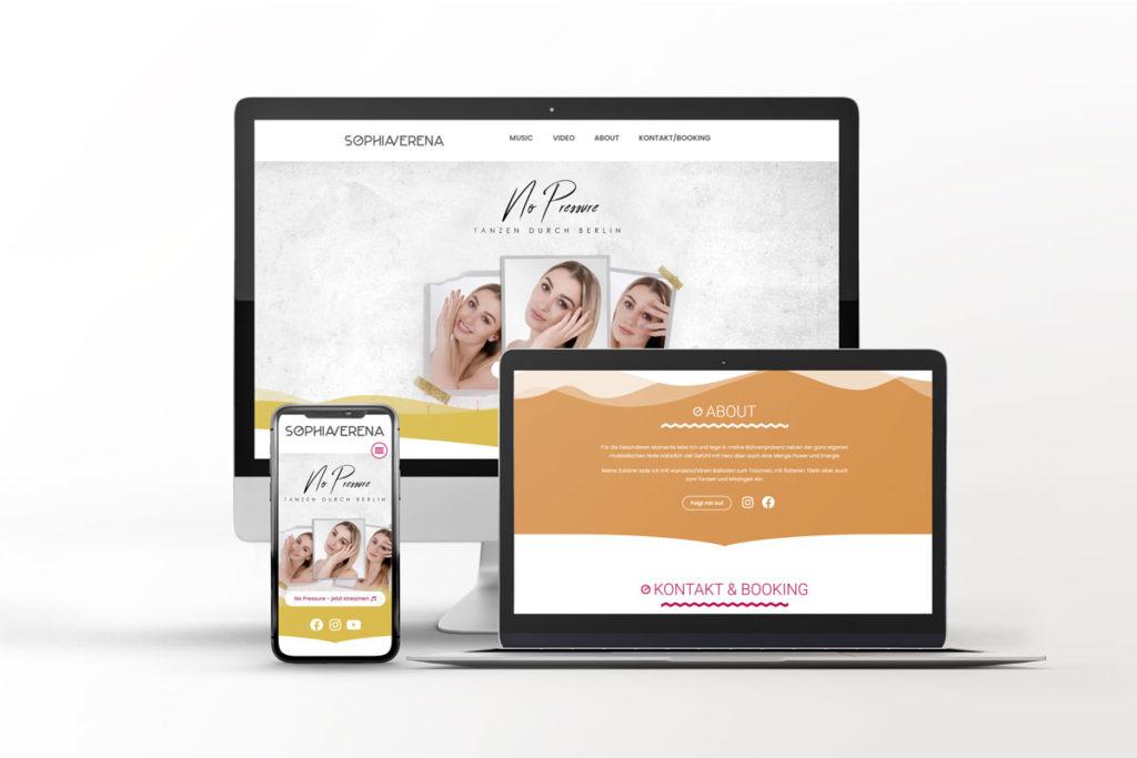 Webseite Sophia Verena